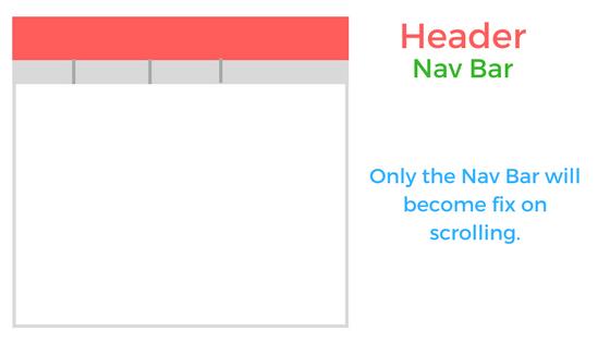 On Scroll Fixed Header Navigation Bar